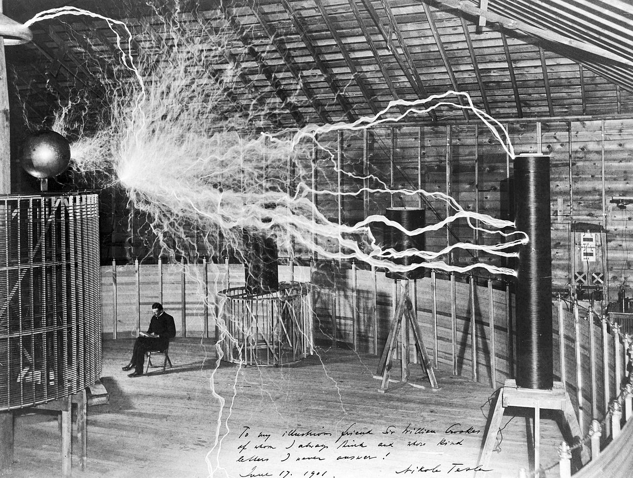 Il laboratorio di Tesla a Colorado Springs, 1900